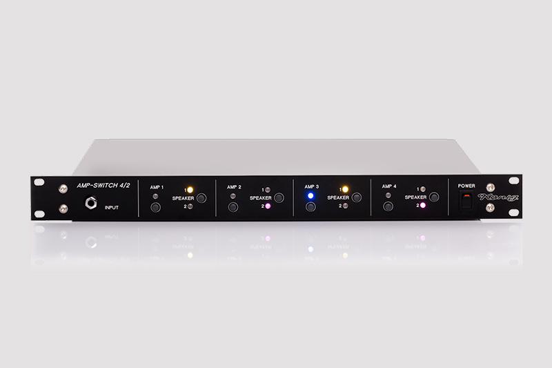 AMP-SWITCH 4/2 Umschalter für 4 Amps
